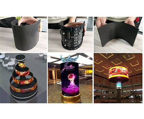China Slimmer & Lighter Bendable Led Screen / Irregular Led Screen No Cabinet factory