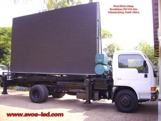China 16mm 2R1G1B Mobile Truck LED Display Portable Led Signs Super Slim factory