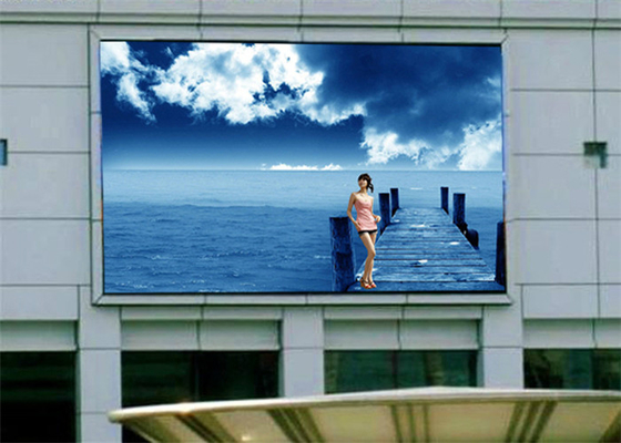 China High Resolution Outdoor Fixed LED Display With Strong Cabinet 9-400m View Distance factory