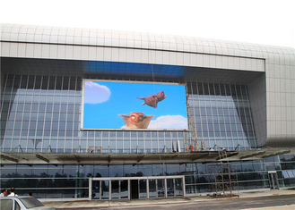 China Waterproof IP65 P10 Outdoor Led Screen On Building Wall Facade 1R1G1B SMD3535 factory