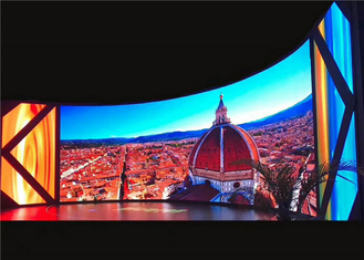 China P3.91mm 3840Hz Outdoor Rental LED Display Full Color Screen Curve Cabinet 500x500mm factory