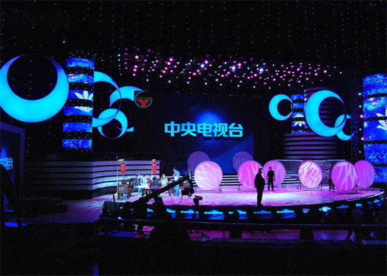 P15.625mm Stage Rental LED Display IP65/IP54 IP Rating Easy To Install