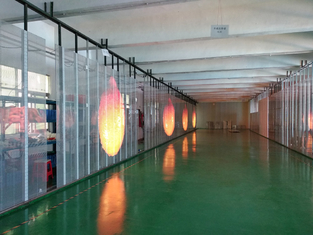 China Customized  Module Size Transparent Glass LED Display Windows Ads Player factory