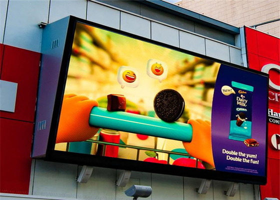 High Durability Waterproof IP65 P4mm Outdoor LED Advertising Screen 1/10 Scan Constant Drive