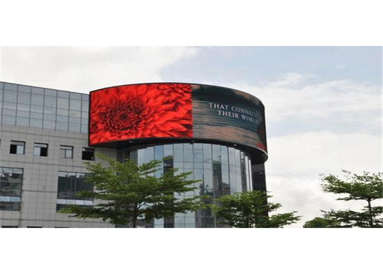 China High Resolution 4mm Outdoor LED Advertising Screen 140 Degree Viewing Angle factory