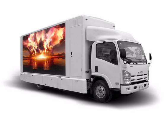 China Movable Truck Mobile Led Display / Outdoor Mobile Led Screen Hire Customized Size factory