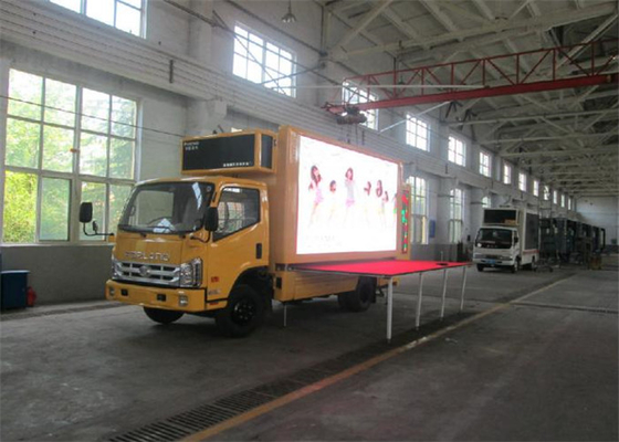 Waterproof 8mm Mobile Truck LED Display Wide Viewing Angle IP65/IP54