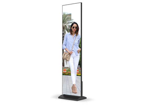 China Shopping Mall Square LED Poster Display P1.875mm Stand Alone Easy Moving factory