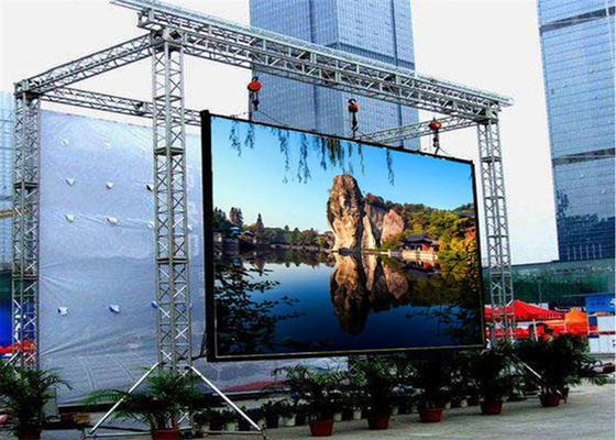 China P4.81mm Outdoor Rental LED Display Slim Design 250mm * 250mm Module Size factory