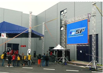 China Silent Design Outdoor Rental Led Screen , P4.81MM Led Street Display User Friendly factory