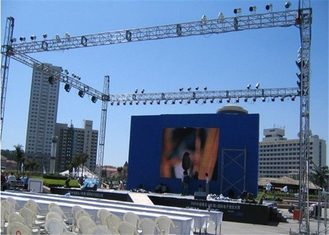 China Slim Exterior Led Display , P3 91 Led Display For Concert High Strength Suspension factory