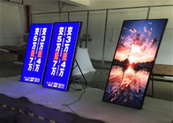 Shopping Mall Advertising P2mm HD LED Poster Display Floor Stand Alone Easy Moving 640*1920mm supplier