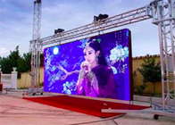 Shopping Malls P3.91 Outdoor Rental LED Display 6000 Nits Brightness Light Blocking Design supplier