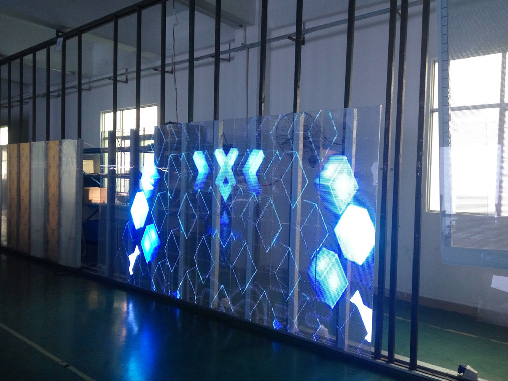 AVOE transparent video LED display For shopping mall windows brightness 4500cd/sqm supplier