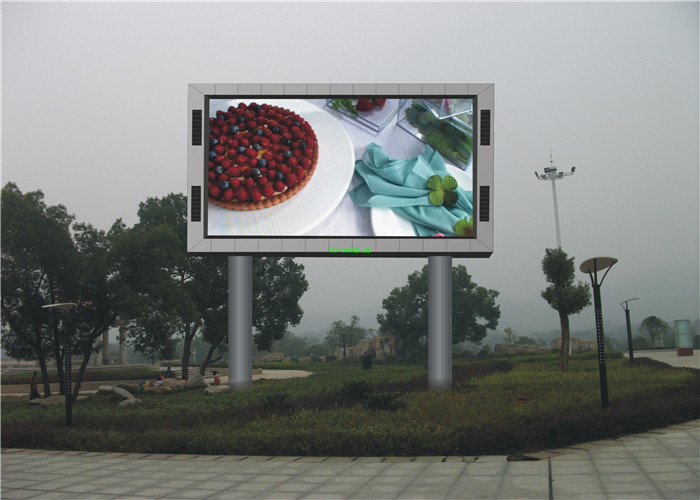 Clear Vivid Image Outdoor Full Color Led Display With Great Heat Dissipation supplier