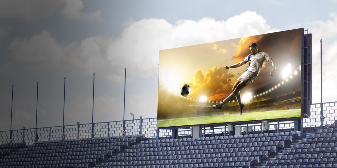 Anti Collision Led Stadium Advertising Boards  / P16 Led Screen Humanization Design supplier