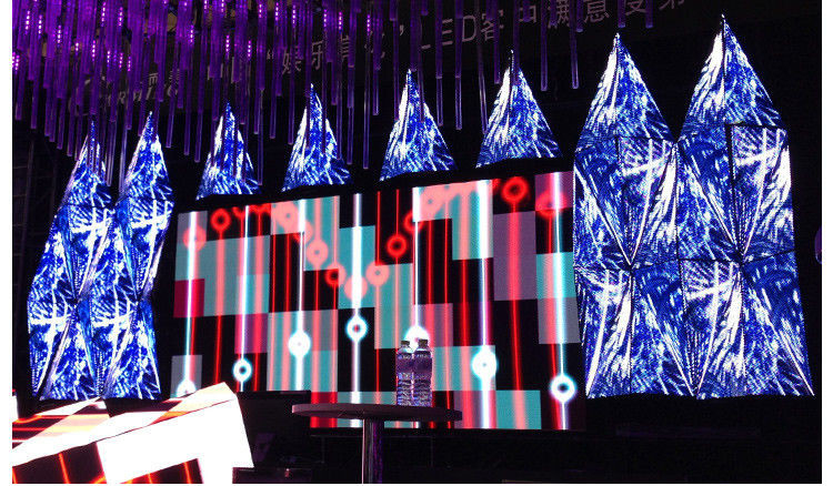 3D Effect Soft Creative LED Screen 100000 Hours Life Span Multiple Installation supplier