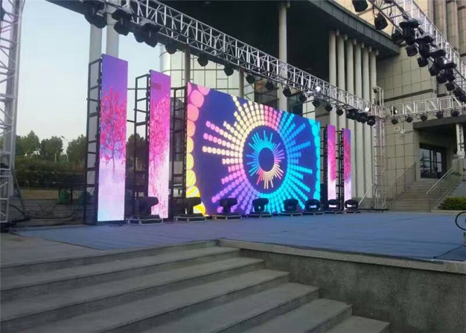 Full Color Led Backdrop Screen Rental P3.91mm Square Led Display With Aluminum Frame
