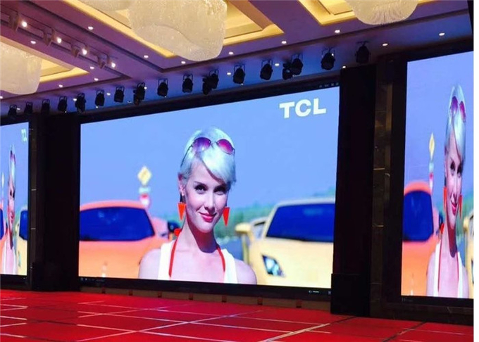 P4.81mm Indoor Rental LED Display 250*250mm Module For Exhibition Presentation Low Power Consumption