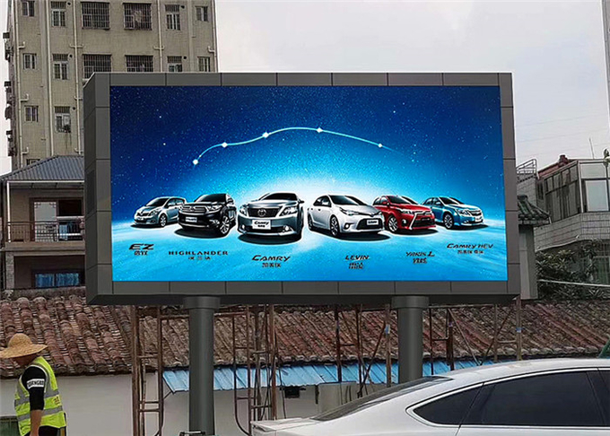 P8mm Outdoor LED Advertising Screen 7000mcd brightness Support Multiplied File Formats 3