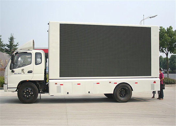 P10mm 1R1G1B Vehicle LED Display , Truck Mounted LED Screen Energy Saving