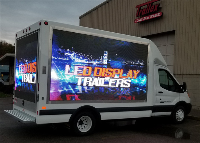 P10mm 1R1G1B Vehicle LED Display , Truck Mounted LED Screen Energy Saving 0