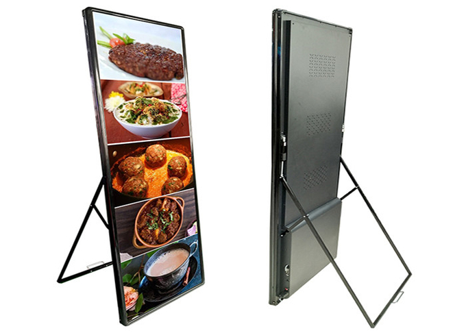 Hotel Restaurant Indoor advertising player P2mm Super HD LED Poster Display 640*1920mm 6