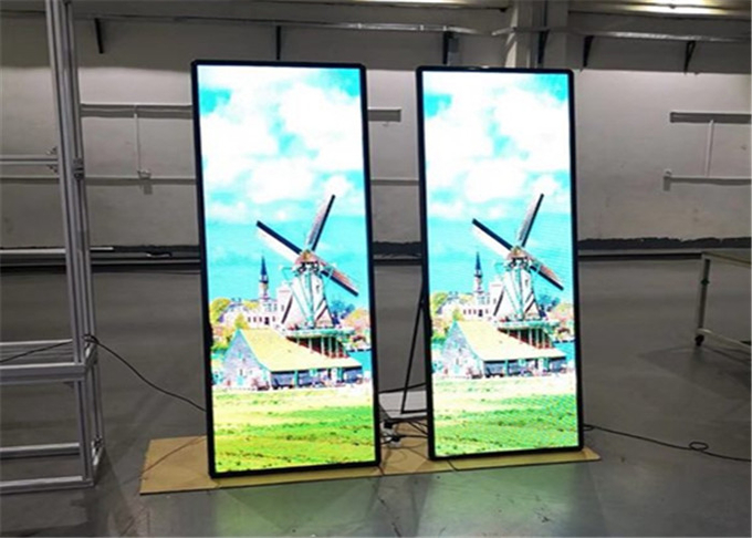 Hotel Restaurant Indoor advertising player P2mm Super HD LED Poster Display 640*1920mm 4
