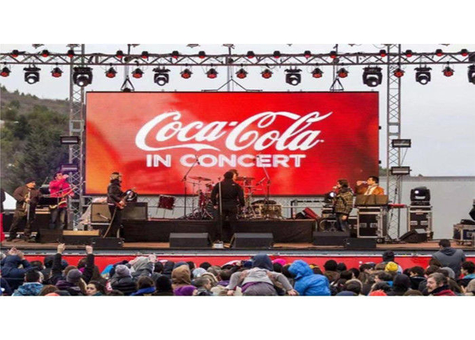 Front Service UHD4KI 3840Hz P4.81mm Outdoor Rental LED Screen ICN2153IC 6500cd Curve Cabinet 4