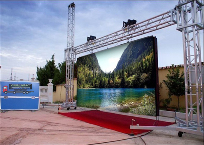 Shopping Malls P3.91 Outdoor Rental LED Display 6000 Nits Brightness Light Blocking Design